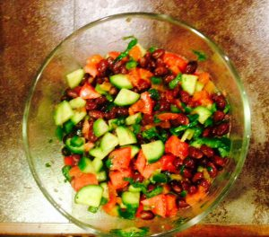Black Bean Veggie Salad