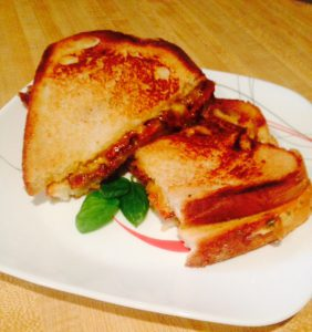 Bourbon Bacon Grilled Cheese Sandwich