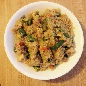 Vegan Fried Brown Rice