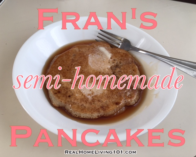 semi-homemade pancakes